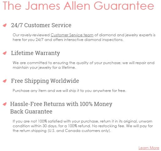 James allen guarantee